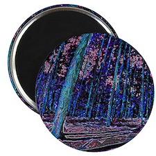 Magic forest purple 2 Magnet