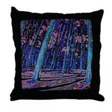 Magic forest purple 2 Throw Pillow