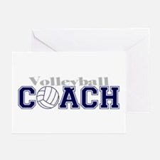 Volleyball Coach II Greeting Cards (Pk of 10)