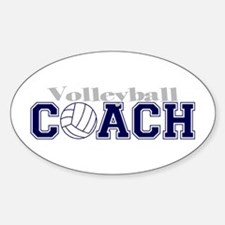 Volleyball Coach II Oval Decal