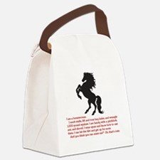 I am a horsewoman ... I can  ...  Canvas Lunch Bag