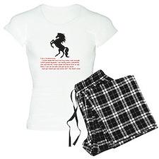 I am a horsewoman ... I can pajamas