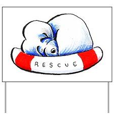Maltese Rescue Yard Sign