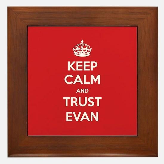 Trust Evan Framed Tile