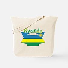 Rwanda flag ribbon Tote Bag