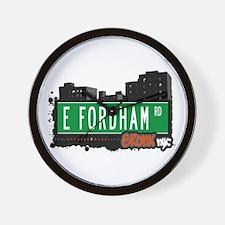 E Fordham Rd, Bronx, NYC Wall Clock