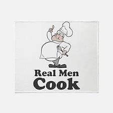 Real Men Cook Throw Blanket