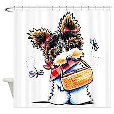 Biewer Yorkie Picnic Shower Curtain