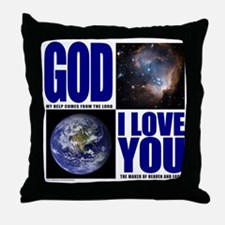 GOD I LOVE YOU Throw Pillow