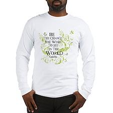 Gandhi Vine - Change - Green Long Sleeve T-Shirt