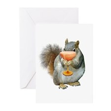 Squirrel Drink Greeting Cards (Pk of 10)