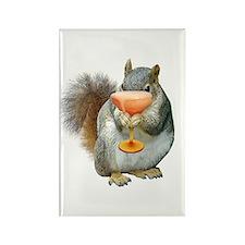 Squirrel Drink Rectangle Magnet