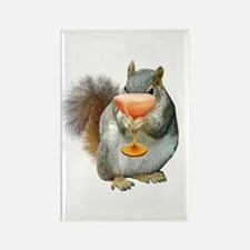 Squirrel Drink Rectangle Magnet
