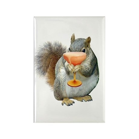 Squirrel Drink Rectangle Magnet (10 pack)