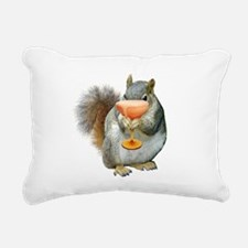 Squirrel Drink Rectangular Canvas Pillow