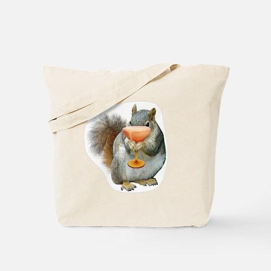 Squirrel Drink Tote Bag