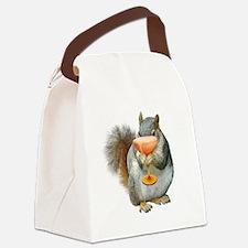 Squirrel Drink Canvas Lunch Bag