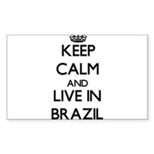 Keep Calm and Live In Brazil Decal