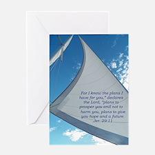 Sail/Plan of Hope Greeting Card