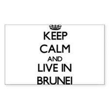 Keep Calm and Live In Brunei Decal