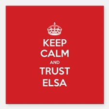 "Trust Elsa Square Car Magnet 3"" x 3"""