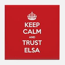 Trust Elsa Tile Coaster