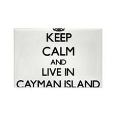 Keep Calm and Live In Cayman Island Magnets