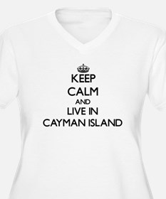 Keep Calm and Live In Cayman Island Plus Size T-Sh