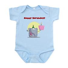 Happy Birthday Elephant Body Suit