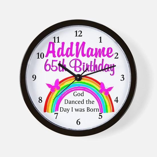 LOVING GOD 65TH Wall Clock
