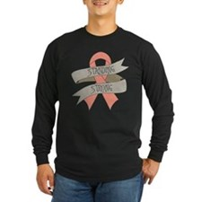 Uterine Cancer Standing Strong Long Sleeve T-Shirt