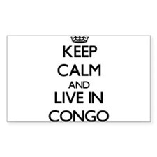 Keep Calm and Live In Congo Decal