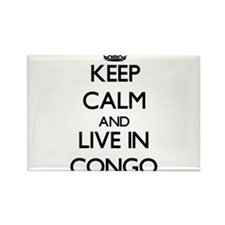Keep Calm and Live In Congo Magnets