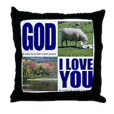 GOD I LOVE YOU Throw Pillow
