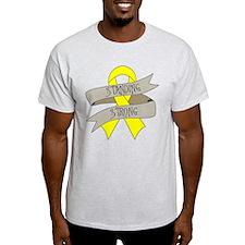 Testicular Cancer Standing Strong T-Shirt