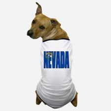 Nevada Flag Dog T-Shirt