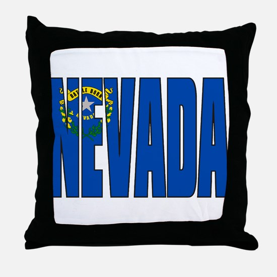 Nevada Flag Throw Pillow