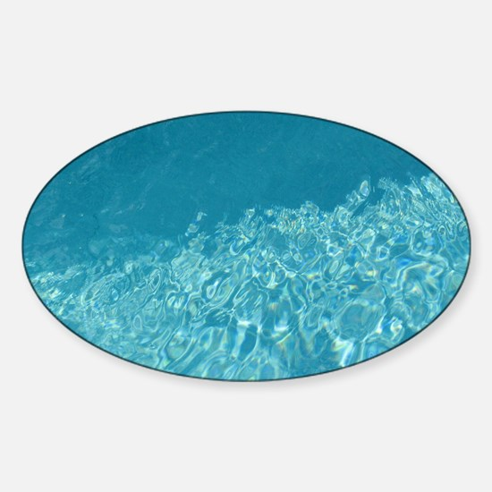 Crystal clear Sticker (Oval)