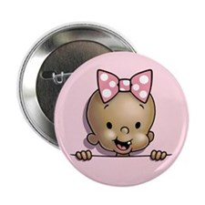 "Pouchy Girl -ds 2.25"" Button"