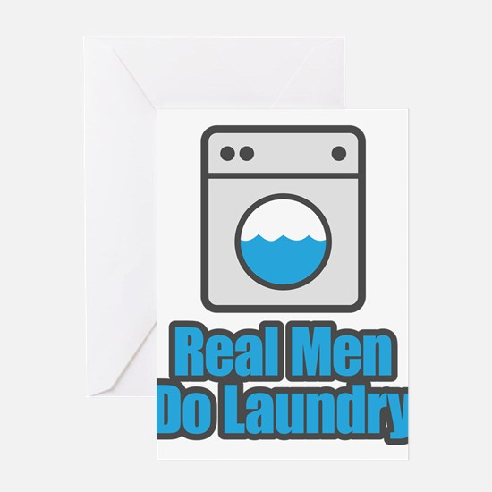 Real Men Do Laundry Greeting Cards