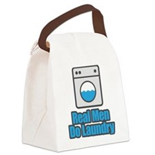 Real Men Do Laundry Canvas Lunch Bag