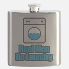 Real Men Do Laundry Flask