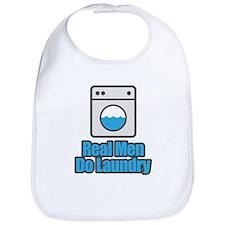 Real Men Do Laundry Bib