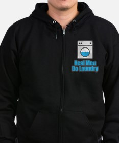 Real Men Do Laundry Zip Hoodie