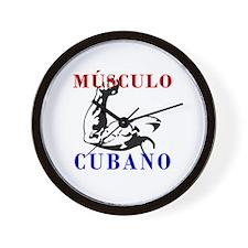 Músculo Cubano  Wall Clock