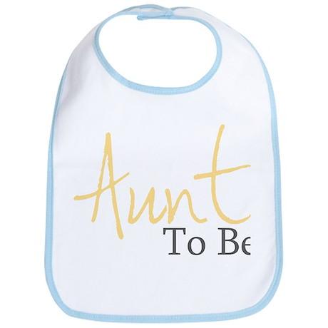 Aunt To Be (Yellow Script) Bib