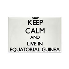 Keep Calm and Live In Equatorial Guinea Magnets