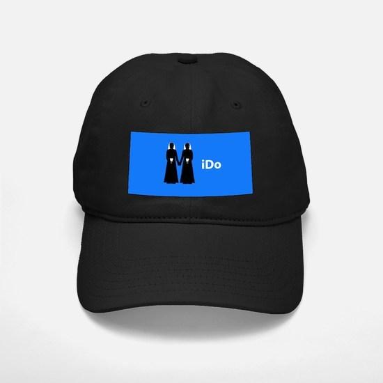 """I Do"" Brides Blue Baseball Hat"