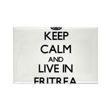 Keep Calm and Live In Eritrea Magnets