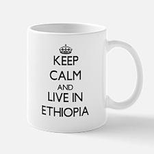 Keep Calm and Live In Ethiopia Mugs